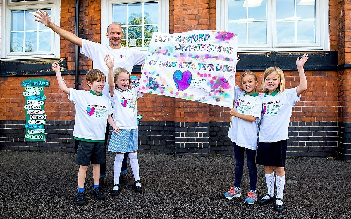 Ben Webb and Evie second from right with West Bridgford Infants